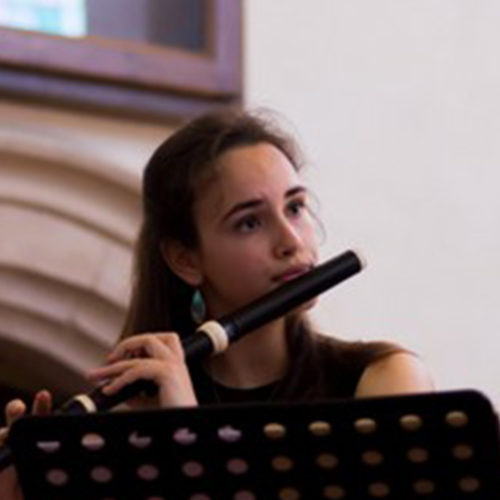 Gabrielle Rubio traverso flute guitare quatuor La Chapelle Harmonique
