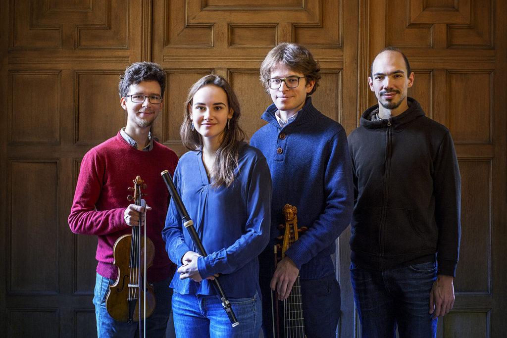 Gabrielle Rubio traverso flute Evgeny Sviridov violon baroque Jean-Christophe Dijoux clavecin Valentin Tournet